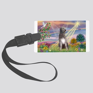 Cloud angel / Wolfhound(g) Large Luggage Tag