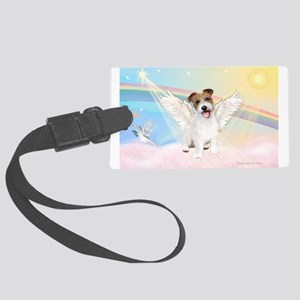 Angel /Jack Russell Terrier Large Luggage Tag
