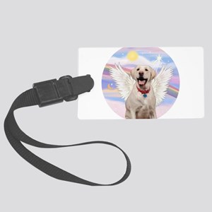 Yellow Labrador Angel Large Luggage Tag