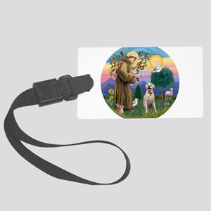 StFrancis-YLab (Bz) Large Luggage Tag