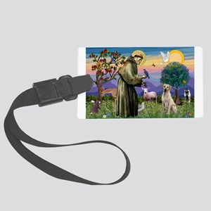 St Francis / Lab (y) Large Luggage Tag