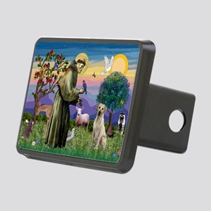 St Francis / Lab (y) Rectangular Hitch Cover