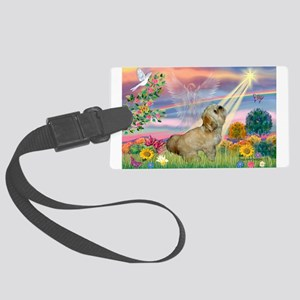Cloud Angel / Lhasa Apso Large Luggage Tag