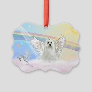 Maltese Angel (C) Picture Ornament
