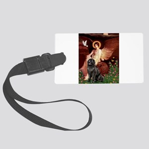 Seated Angel / Newfie Large Luggage Tag