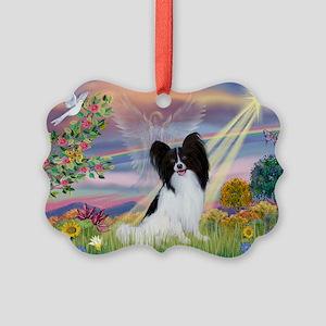 Cloud Angel & Papillon Picture Ornament