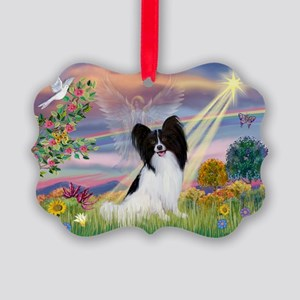 Cloud Angel & Papillon Picture Ornament