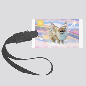 Pomeranian / Angl (s&w) Large Luggage Tag