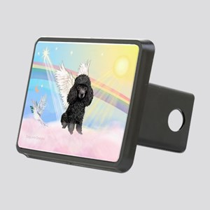 Angel/Poodle(blk Toy/Min) Rectangular Hitch Cover