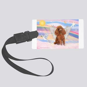 Angel/Poodle (Aprict Toy/Min) Large Luggage Tag