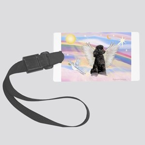 Angel/Poodle (blk Toy/Min) Large Luggage Tag