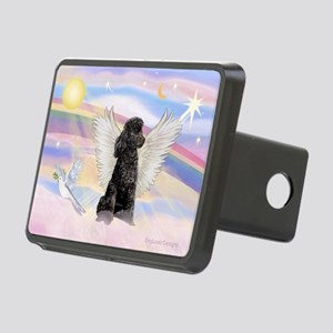 Angel/Poodle (blk Toy/Min) Rectangular Hitch Cover