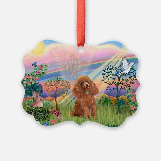 Cloud Angel/Poodle (Apricot) Ornament
