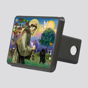 St Francis / Poodle(blk min) Rectangular Hitch Cov