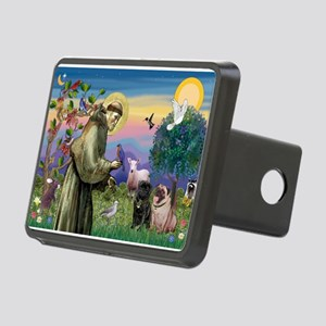 St. Francis & Pug Pair Rectangular Hitch Cover