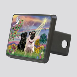 Cloud Angel & 2 Pugs Rectangular Hitch Cover