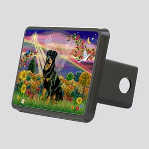 Autumn Angel & Rottie Rectangular Hitch Cover