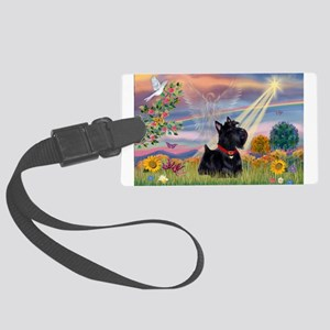 Cloud Angel & Scotty Large Luggage Tag