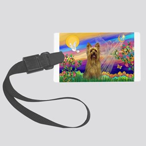 Guardian Angel / Silky Terrie Large Luggage Tag