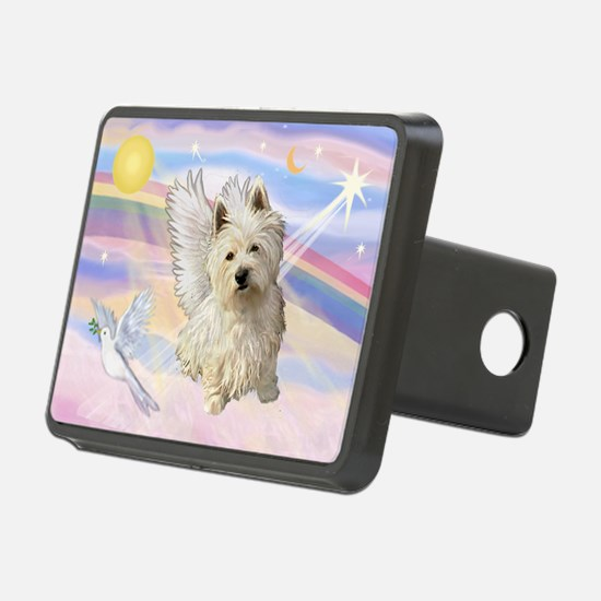 Westie Angel in Clouds Hitch Cover
