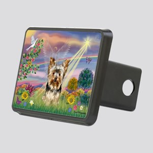 Cloud Angel & Yorkie Rectangular Hitch Cover