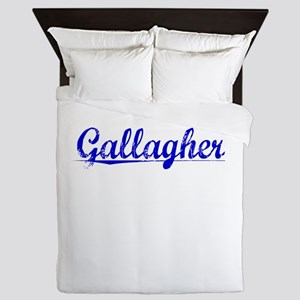 Gallagher, Blue, Aged Queen Duvet