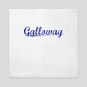 Galloway, Blue, Aged Queen Duvet