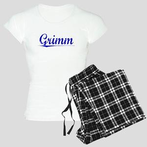 Grimm, Blue, Aged Women's Light Pajamas