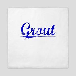 Grout, Blue, Aged Queen Duvet