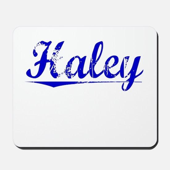 Haley, Blue, Aged Mousepad