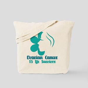 Ovarian Cancer 15 Year Survivor Tote Bag