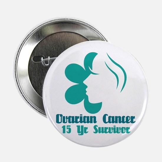 """Ovarian Cancer 15 Year Survivor 2.25"""" Button"""