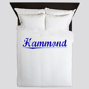 Hammond, Blue, Aged Queen Duvet