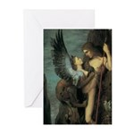 Oedipus and the Sphinx Greeting Cards (Pk of 20)