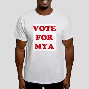 VOTE FOR MYA Ash Grey T-Shirt