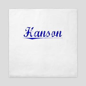 Hanson, Blue, Aged Queen Duvet