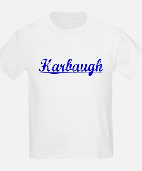 Harbaugh, Blue, Aged T-Shirt