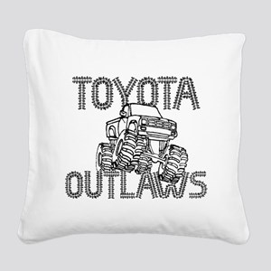 Toyota Outlaws Logo Square Canvas Pillow