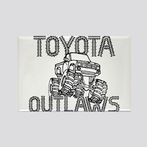 Toyota Outlaws Logo Rectangle Magnet