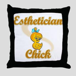 Esthetician Chick #2 Throw Pillow