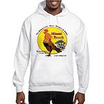 Miami Beach Rising Cock Hooded Sweatshirt