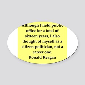 reagan54 Oval Car Magnet