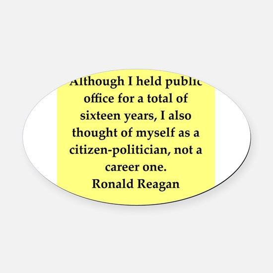 reagan54.png Oval Car Magnet