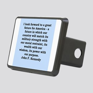 john f kennedy quote Rectangular Hitch Cover