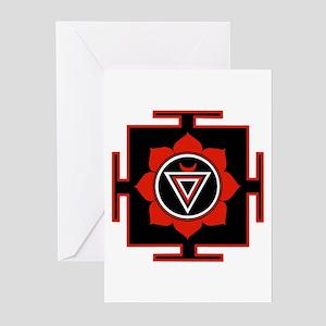 Goddess Kali Yantra Greeting Cards (Pk of 10)