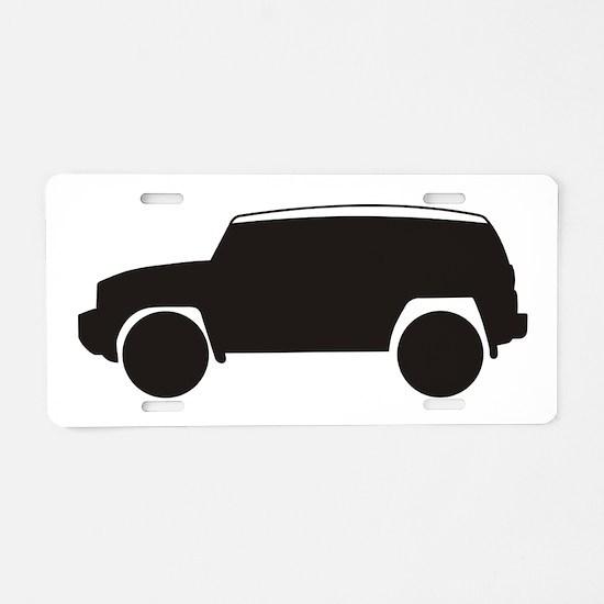 Toyota FJ Cruiser Outline Aluminum License Plate