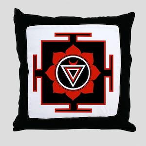 Goddess Kali Yantra Throw Pillow