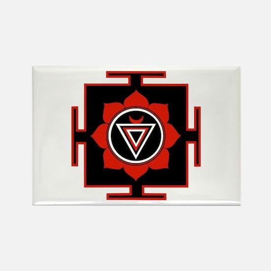 Goddess Kali Yantra Rectangle Magnet