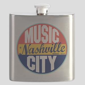 Nashville Vintage Label Flask