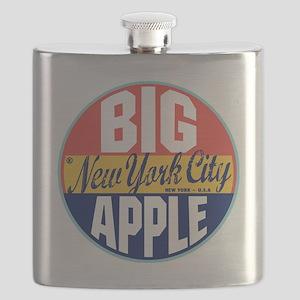 New York Vintage Label Flask